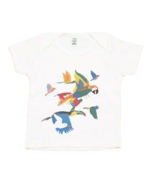 T-shirt coton bio motifs jungle