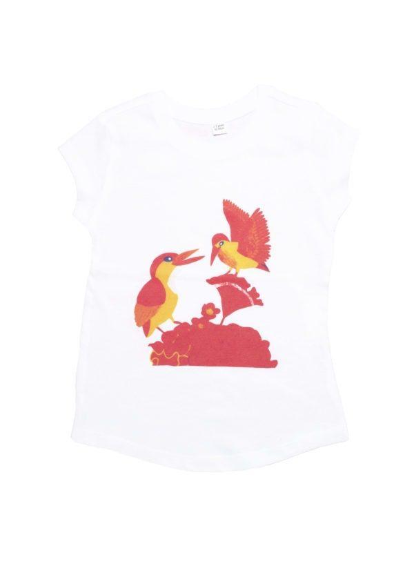 T-shirt coton bio oiseaux