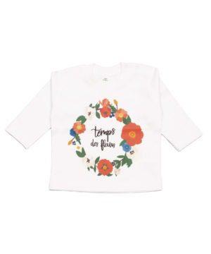 T-shirt Coton bio, manches longues, le temps des fleurs
