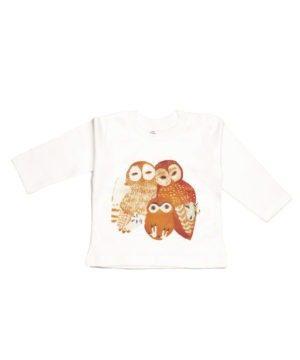 T-shirt coton bio famille chouette