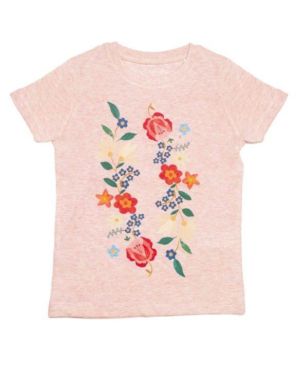 T-shirt- coton bio- motif scandinave-imprimé à Rennes- illustratrice française- encres bio-commerce équitable-mode bébé responsable