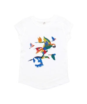 T-shirt coton bio animaux exotiques