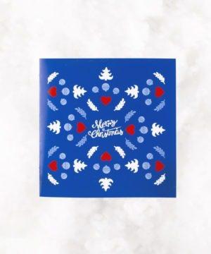carte de voeux-style scandinave-bleue-fabrication français-fabrication artisanale