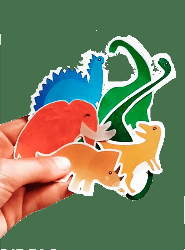 Autocollants/stickers Dinosaures