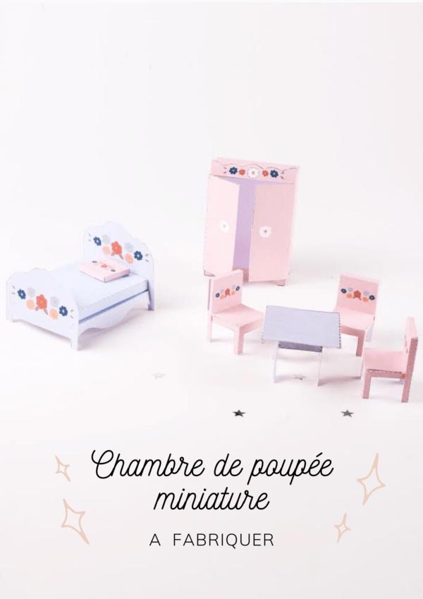 Meubles miniatures pour chambre de poupée à imprimer