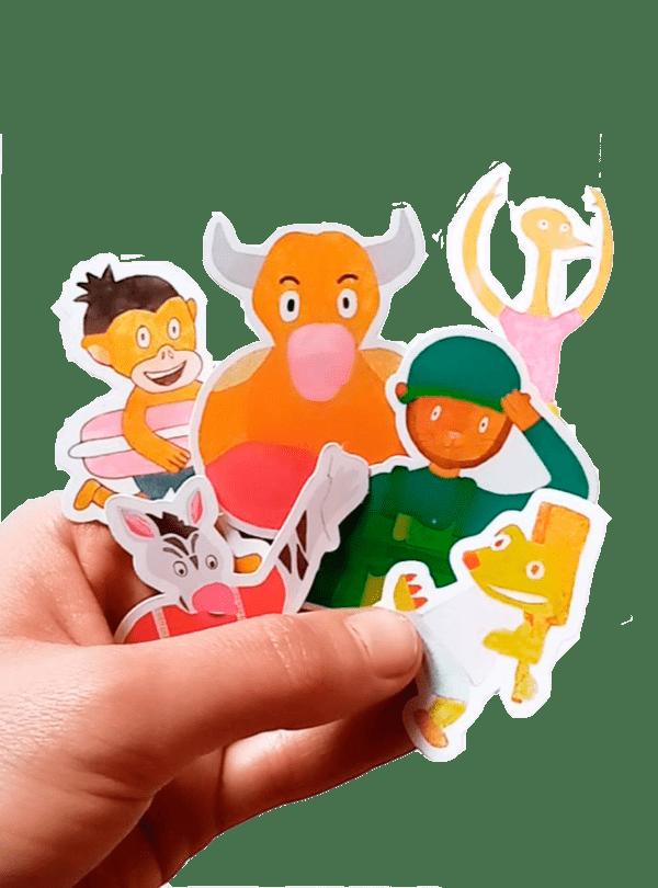 Autocollants/stickers la découverte des métiers