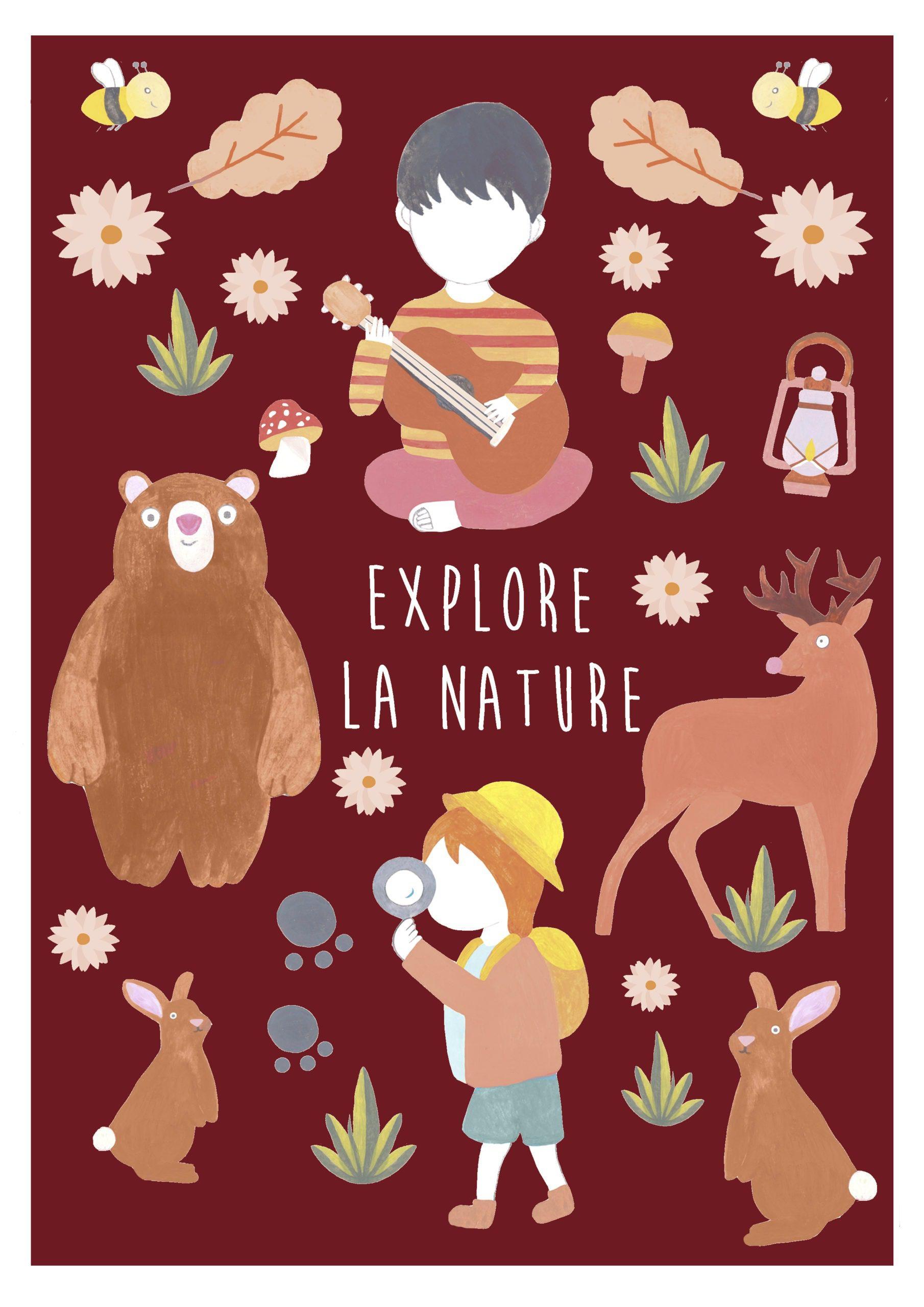 Affiche-explore-la-nature-forêt