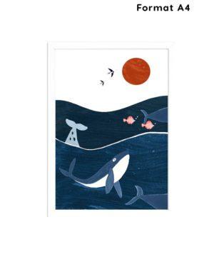 Affiche A4- chambre enfant-ocean