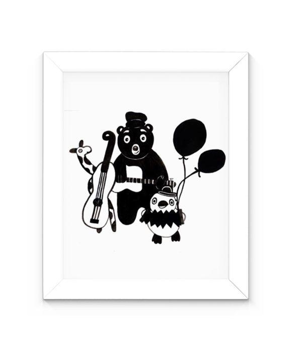 Affiche noir et blanc scandinave