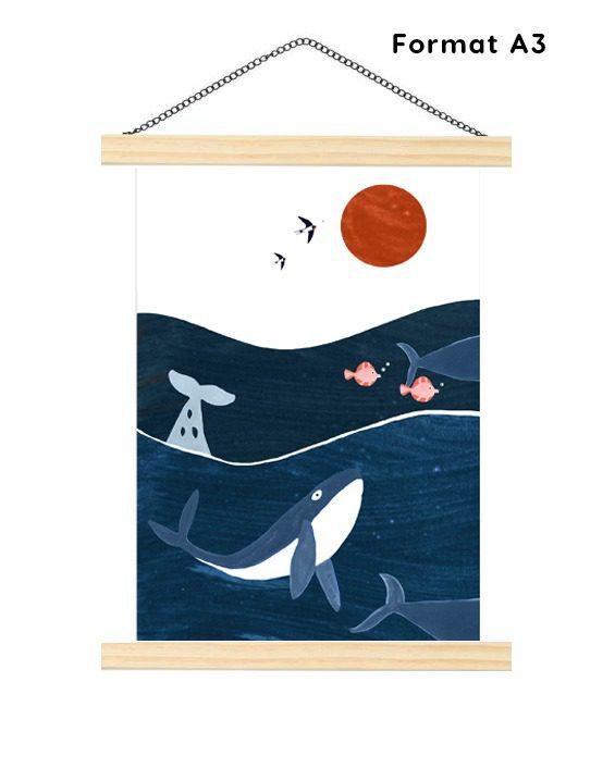 Affiche A2- chambre enfant-ocean