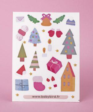 Stickers hiver fêtes Gommettes et stickers Noël