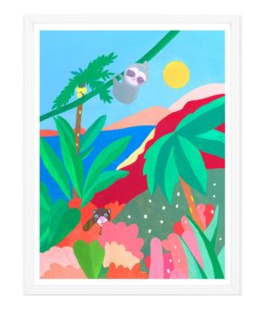 Affiche jungle chambre enfant
