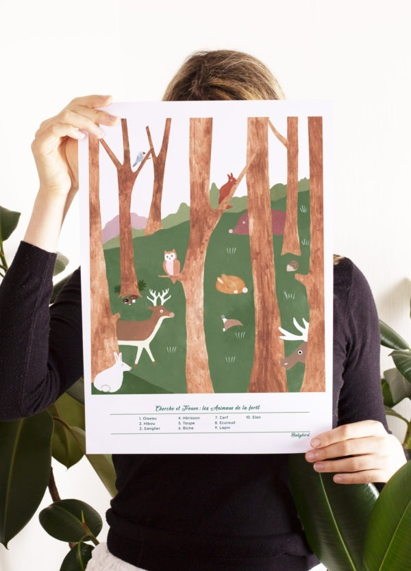 Affiche-pédagogique-animaux-de-la-forêt-