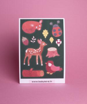 Loisirs-créatifs-enfants-stickers-animaux-forêt