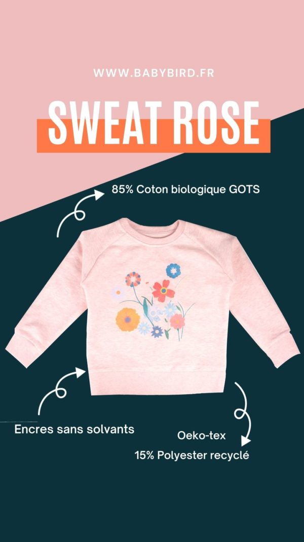 sweat-rose-enfant-coton-biologique-GOTS-oeko-tex