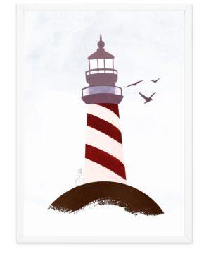 Affiche Phare Breton