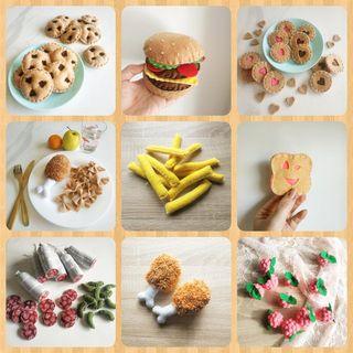aliments en feutrine pour dinette