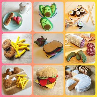 Créatrice d'aliments en feutrine pour dinette pour enfants